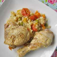 Przepis na One pot chicken with rice and vegetables...