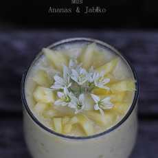 Przepis na Mus Ananas & Jabłko / Pineapple & Apple Mousse (raw vegan)