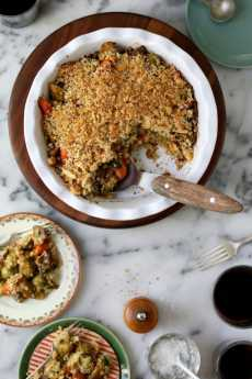 Przepis na Roasted Vegetable Winter Crumble