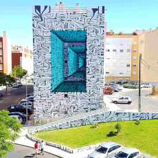 Przepis na Geometric illusions – murals by ASTRO