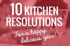 Przepis na 10 Kitchen Resolutions for a Happy, Delicious Year
