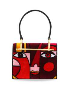 Przepis na Object of Desire – Prada Pioneer Cubist Velvet Shoulder Bag