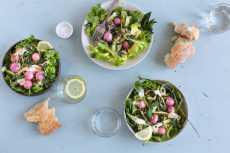 Przepis na Otium Salad with Roasted Radishes and Shaved Asparagus Recipe